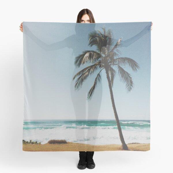 Palm Tree By The Beach  Scarf