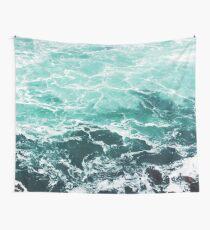 Blue Ocean Summer Beach Waves Wall Tapestry