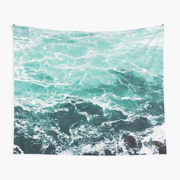 Blue Ocean Summer Beach Waves Tapestry