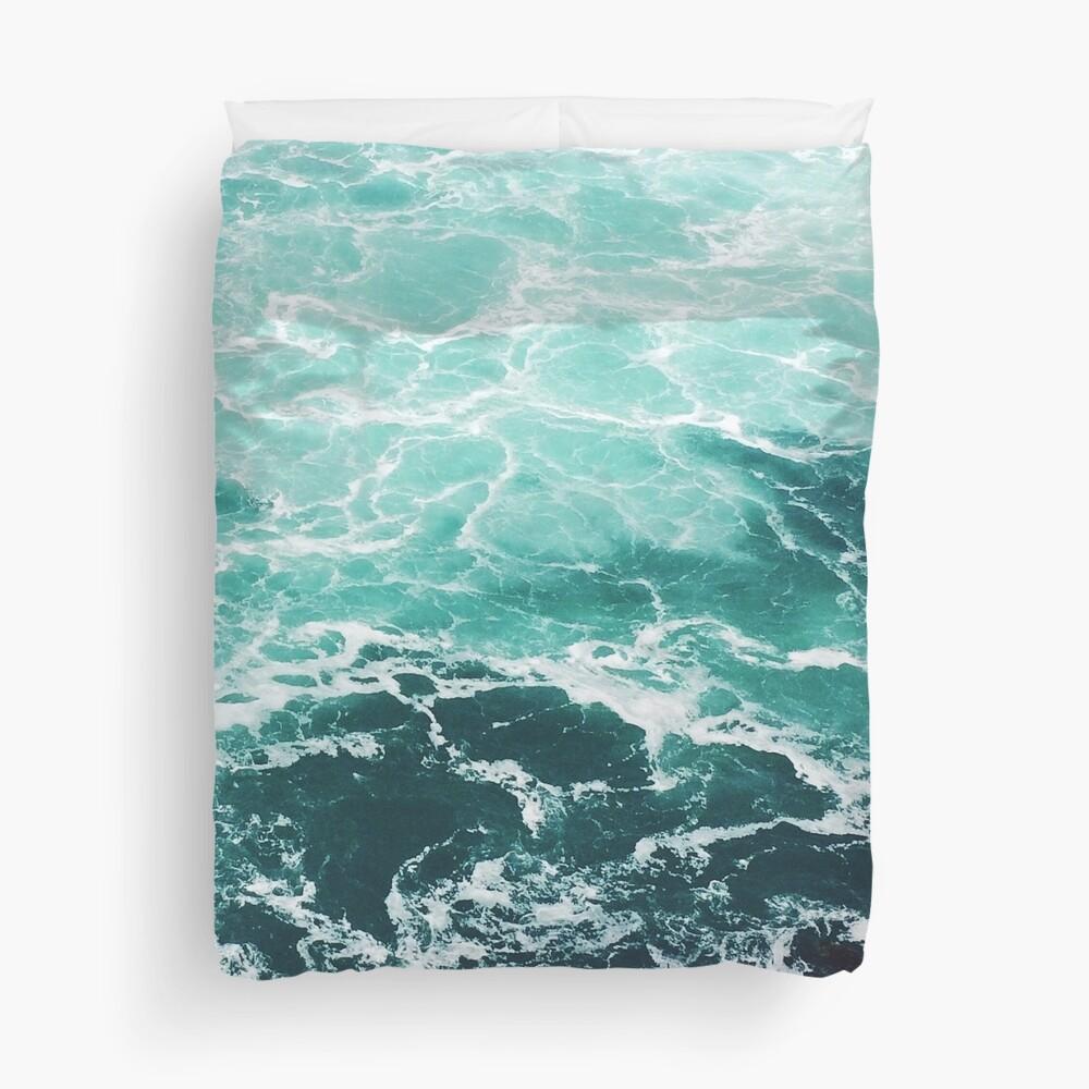 Blue Ocean Summer Beach Waves Duvet Cover