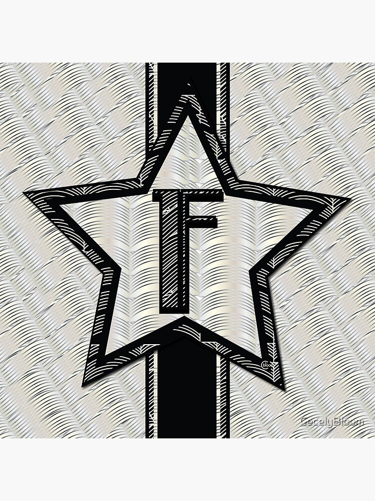 STAR of the SHOW art deco style letter F by CecelyBloom