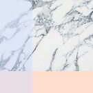 Peach and Purple Minimal Marble Pattern by AlexandraStr