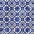 Blue and White Portuguese Tile  by AlexandraStr