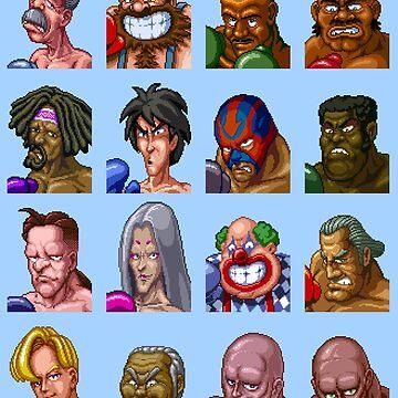 Super Punch-Out Enemies by MisterPixel
