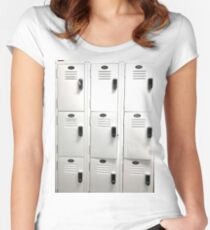 white Lockers Women's Fitted Scoop T-Shirt