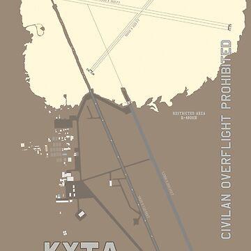 "KXTA - Homey Airport - Groom Lake Air Base ""Area 51"" Airport Art by RealPilotDesign"
