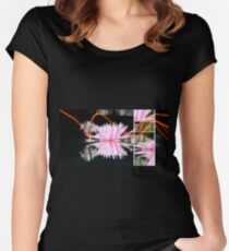 Luscious lily and light 4 Women's Fitted Scoop T-Shirt