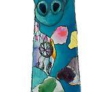 Colorful Giraffe Silhouette by MandalaArts