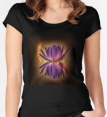 Luscious lily and light 5 Women's Fitted Scoop T-Shirt