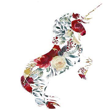 Flower Unicorn Gift by YuliyaR