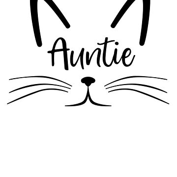 Auntie Cat Face best aunt ever gift by ApeTown