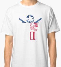 Three Percenter Oath Keeper Skull and III Texas Flag Classic T-Shirt