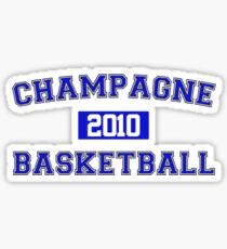 Champagne Basketball Athletic College Style 1 White Sticker