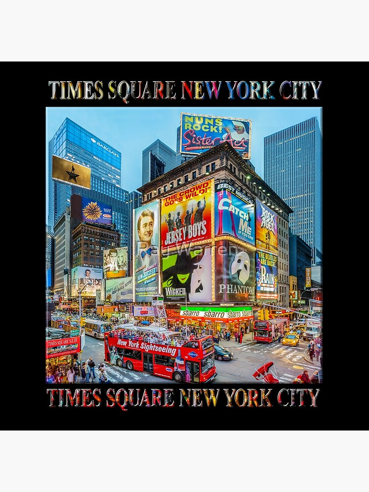 Times Square III Special Finale Edition Titled Poster (on black) by RayW