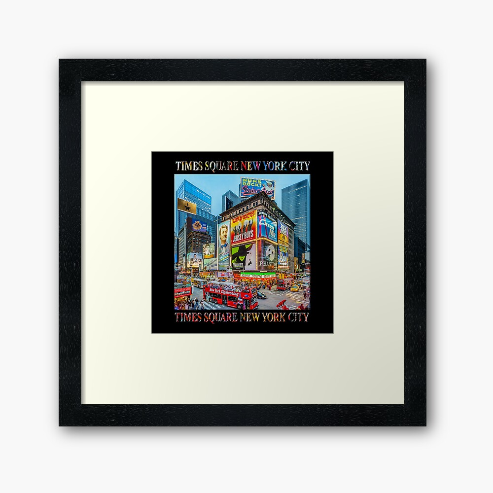 Times Square III Special Finale Edition Titled Poster (on black) Framed Art Print