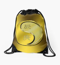 Dragon Yang Metal Drawstring Bag