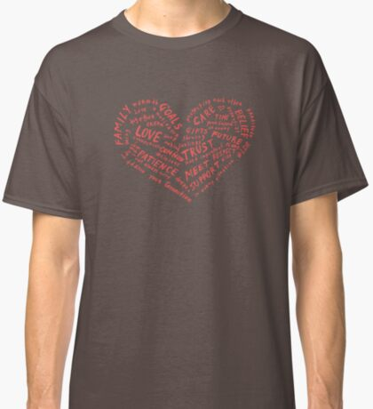 #LDR - heart of words Classic T-Shirt