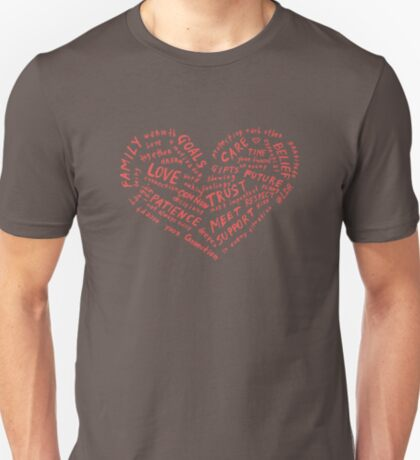#LDR - heart of words T-Shirt