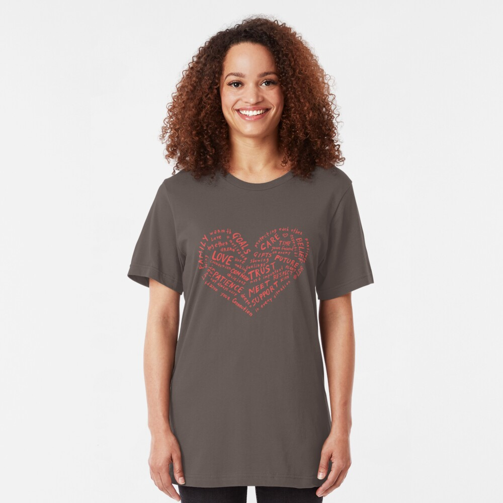 #LDR - heart of words Slim Fit T-Shirt
