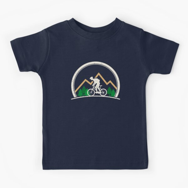 Mountain Bike Retro Style Extreme Hiking Lovers Kids T-Shirt