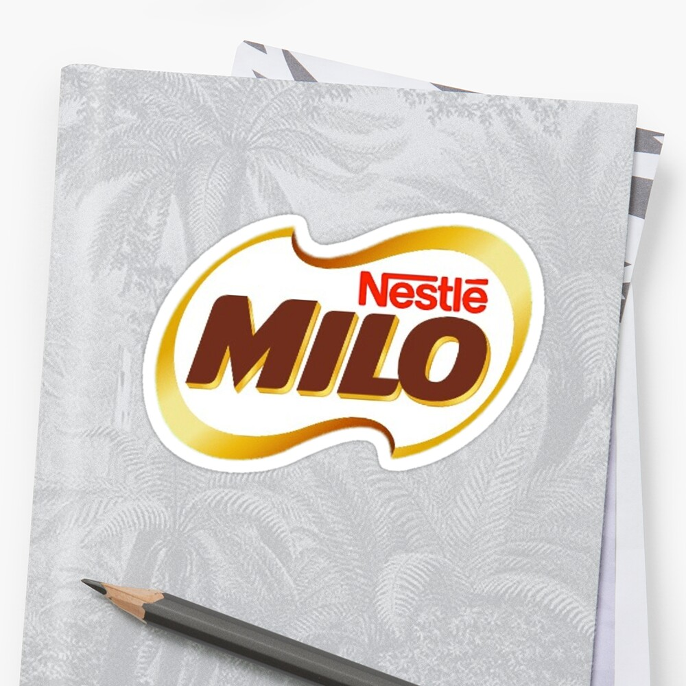 Milo logo design sticker