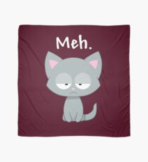 Meh | Funny Kitty Cat | Scarf