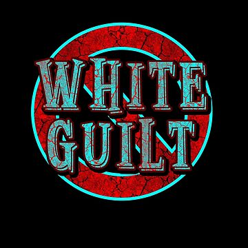 NO WHITE GUILT -  teal/red distress by sleepingmurder