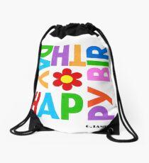 WE WISH YOU HAPPY BIRTHDAY Drawstring Bag