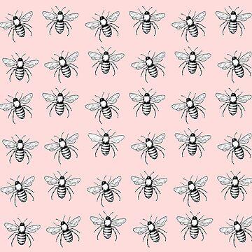 Pop Art  Bee Pattern by ValentinaHramov