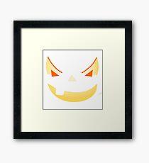 Halloween Kürbis Gesicht Gerahmtes Wandbild