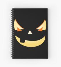 Halloween Kürbis Gesicht Spiralblock