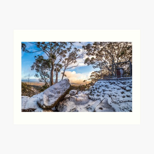 Sunrise in the Snow Art Print