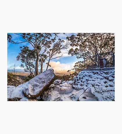Sunrise in the Snow Photographic Print