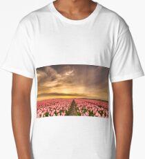 Tulips landscape Long T-Shirt