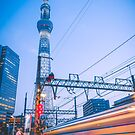 Midnight train to Tokyo Skytree by James-OLT