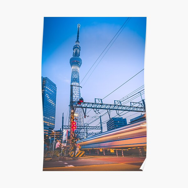 Midnight train to Tokyo Skytree Poster