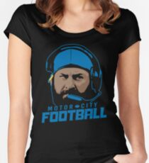 Motor City Football Women's Fitted Scoop T-Shirt