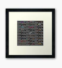 CS GO AK-47 Skin Collage  Framed Print