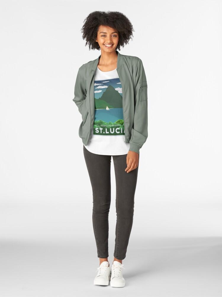 Alternative Ansicht von St. Lucia Premium Rundhals-Shirt