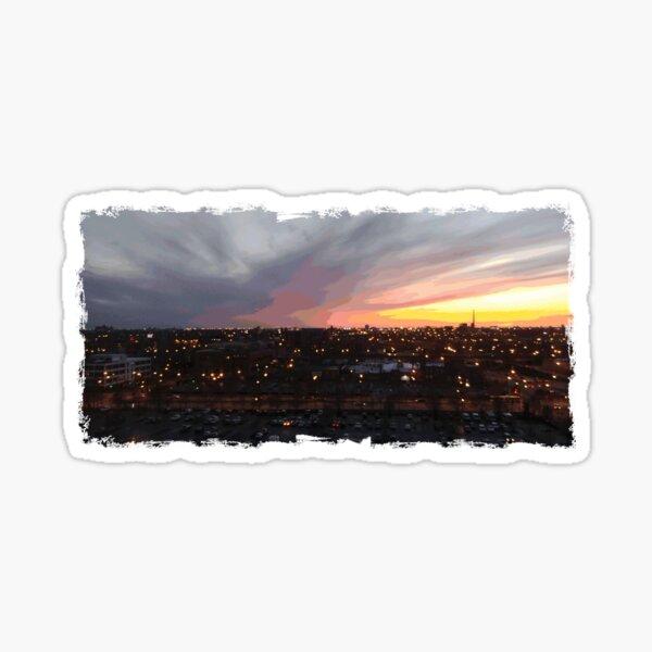Sunset - April 6, 2018 7:34PM. Sticker