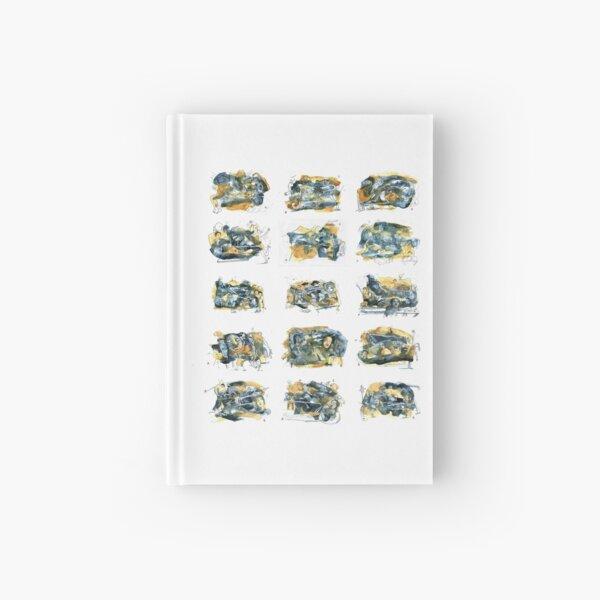 Aquarelle blue et jaune de Naples complet Carnet cartonné