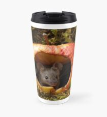 wild house mouse  in a apple Travel Mug