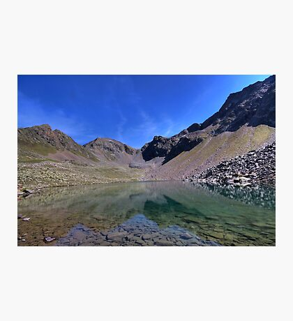 mountain lake with a view Photographic Print