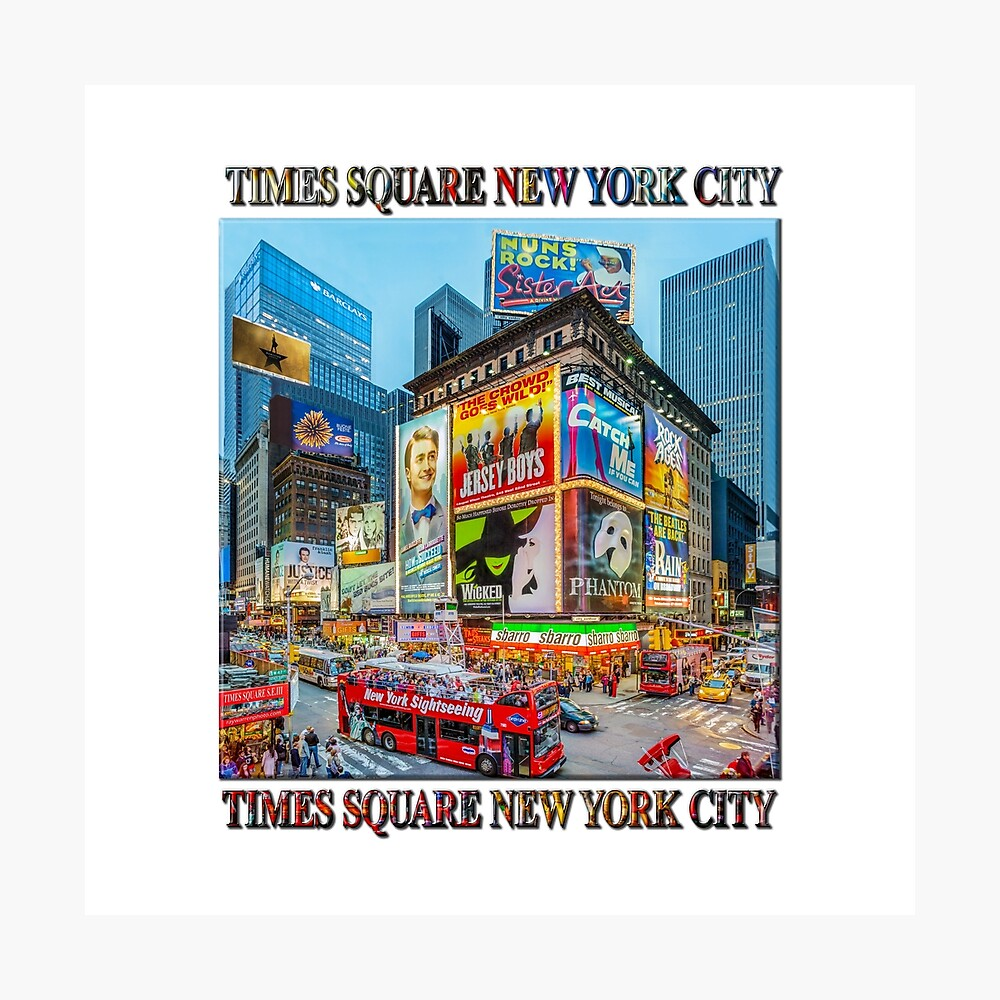 Times Square III Special Finale Edition Titled Poster (on white) Photographic Print
