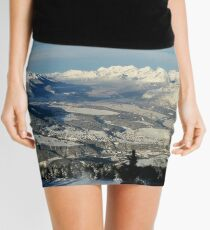Innsbruck In Winter From Patscherkofel Mountain Mini Skirt