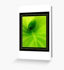 Green spiral Greeting Card