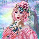 Flamingo Frau Fantasy Porträt von Alena Lazareva