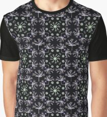 Detailed Flower Vector Pattern Graphic T-Shirt