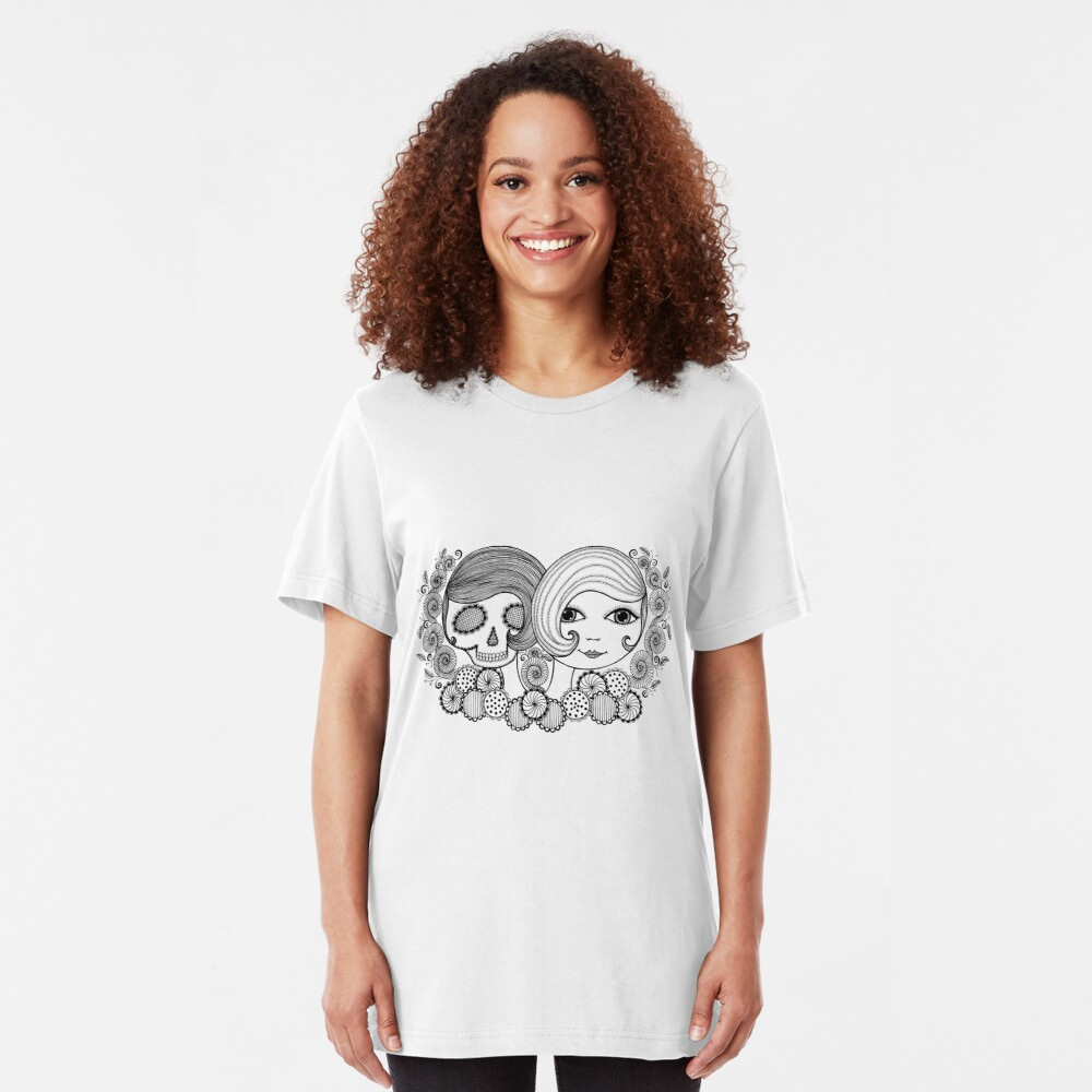 Shirley and her Shadow  Slim Fit T-Shirt