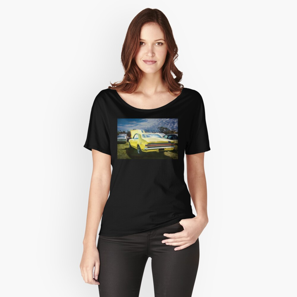 Yellow Holden HK Monaro GTS Relaxed Fit T-Shirt